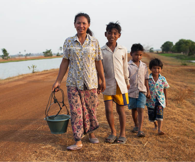 Charity: Water Family on Road